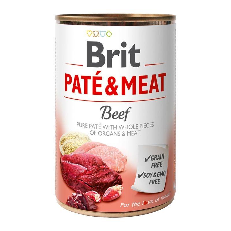 Brit Pate & Meat Beef, 400 g imagine