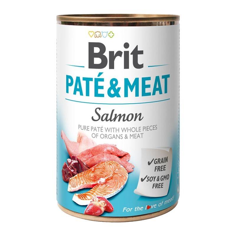 Brit Pate & Meat Salmon, 400 g imagine