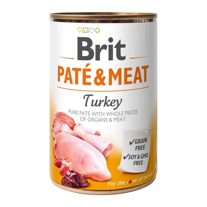 Brit Pate & Meat Turkey, 400 g imagine