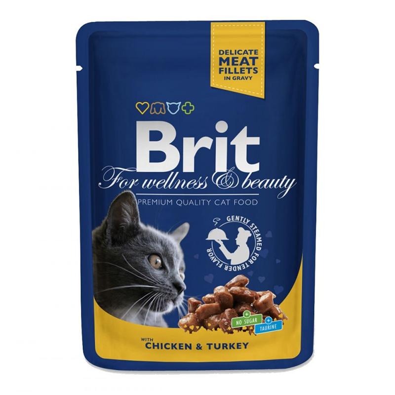Brit Premium Cat Plic, cu carne de pui si curcan, 100 g imagine