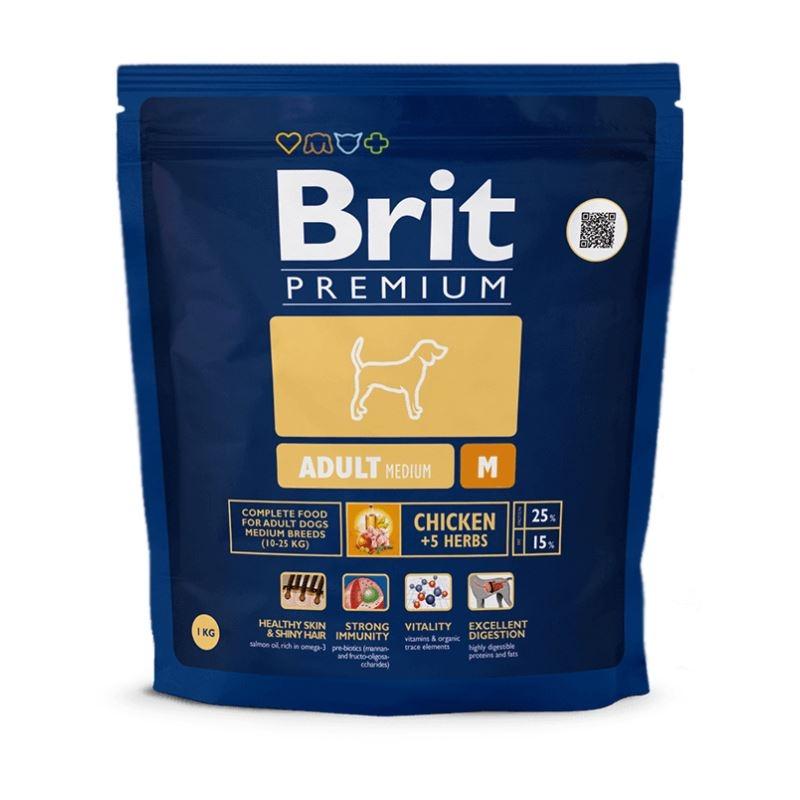 Brit Premium Adult Medium, 1 kg imagine