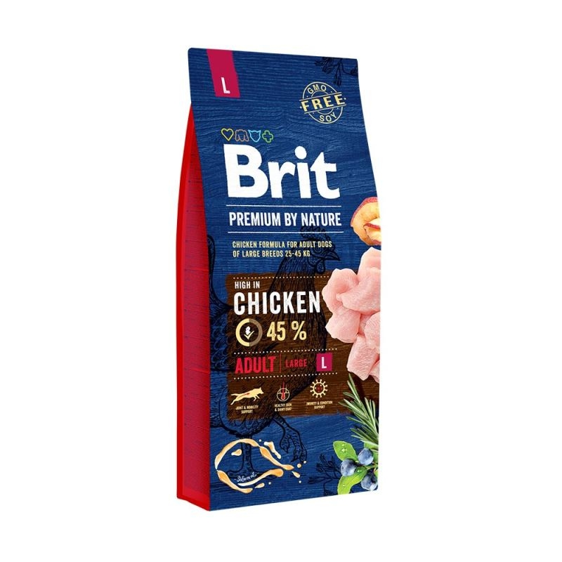 Brit Premium by Nature Adult Large, 15 kg imagine