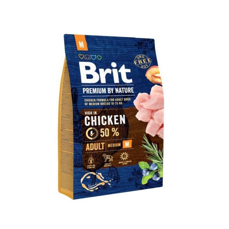 Brit Premium by Nature Adult Medium, 3 kg imagine