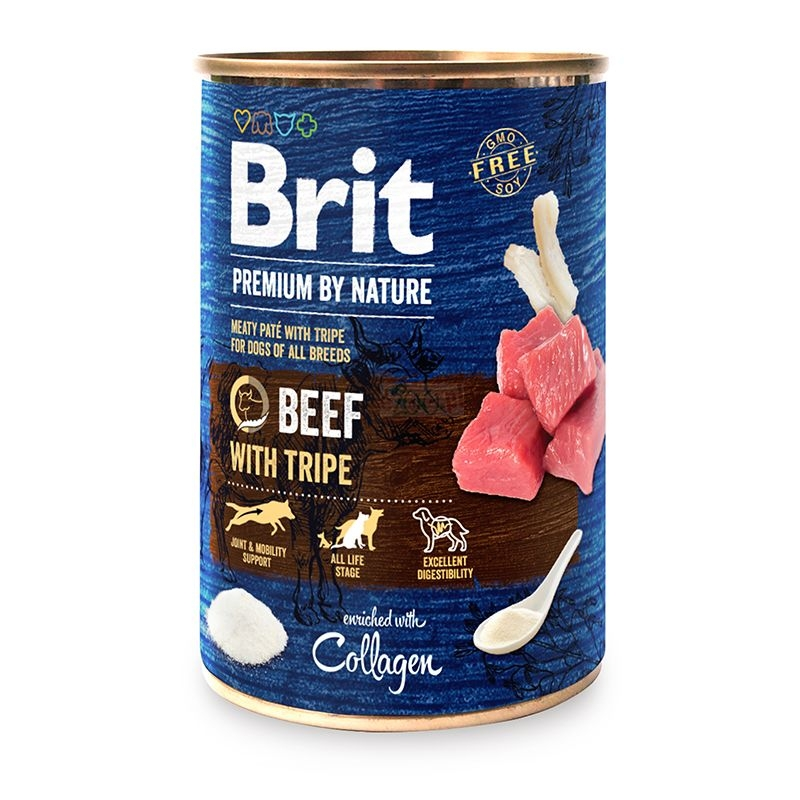 Brit Premium by Nature Beef with Tripes, 400 g imagine