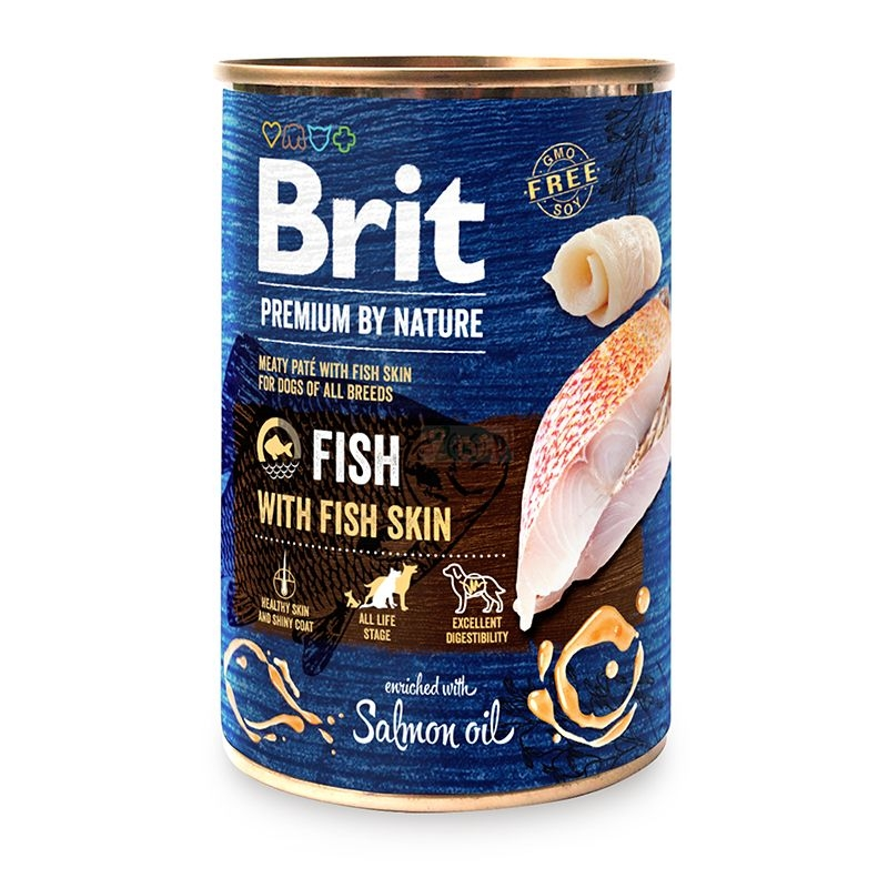 Brit Premium by Nature Fish with Fish Skin, 400 g imagine