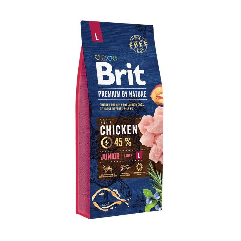Brit Premium by Nature Junior Large, 15 kg imagine