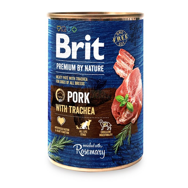 Brit Premium by Nature Pork with Trachea, 800 g imagine