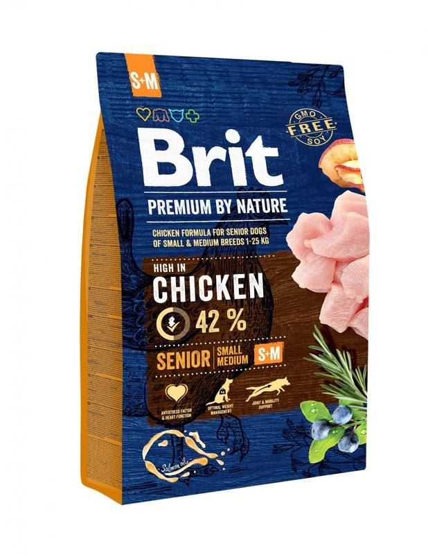 Brit Premium By Nature Senior S plus M, 1 kg imagine