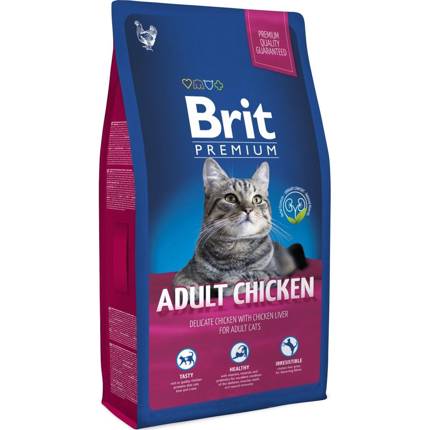 Brit Premium Cat Adult Chicken, 1.5 kg imagine
