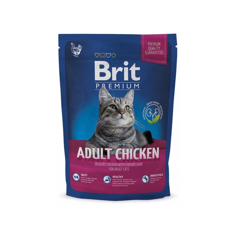 Brit Premium Cat Adult Chicken, 300 g imagine