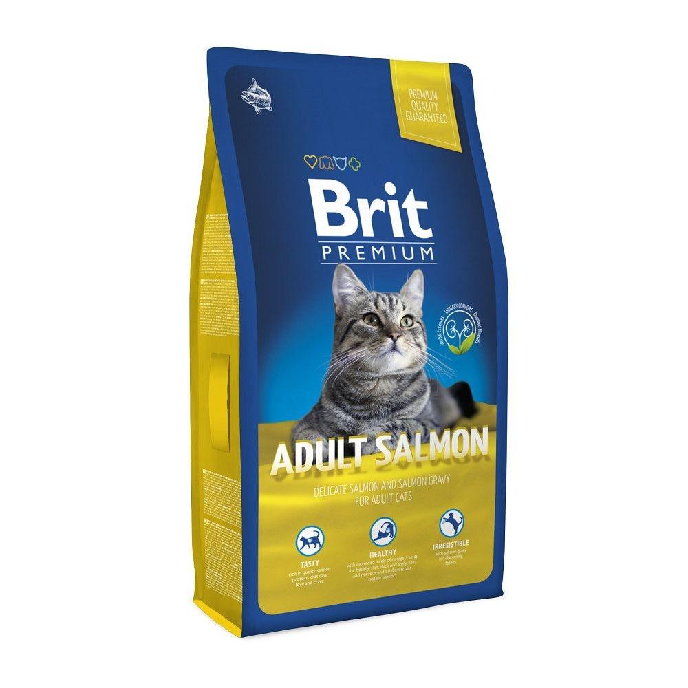 Brit Premium Cat Adult Salmon, 1.5 kg imagine