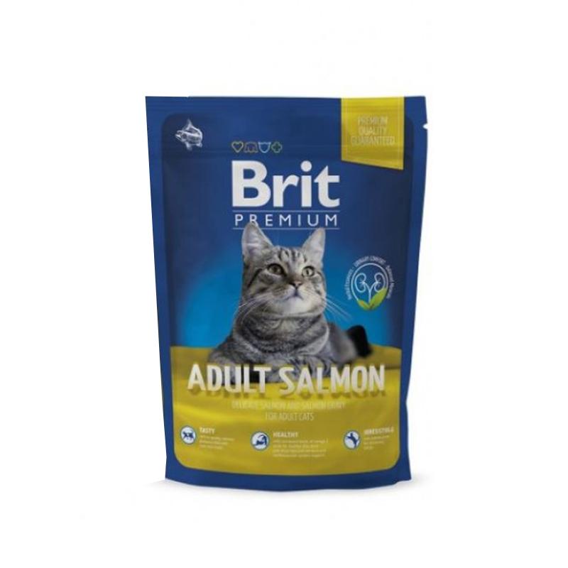 Brit Premium Cat Adult Salmon, 300 g imagine