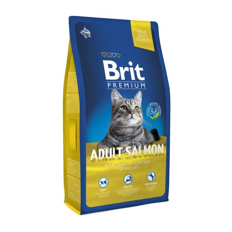 Brit Premium Cat Adult Salmon, 8 kg imagine