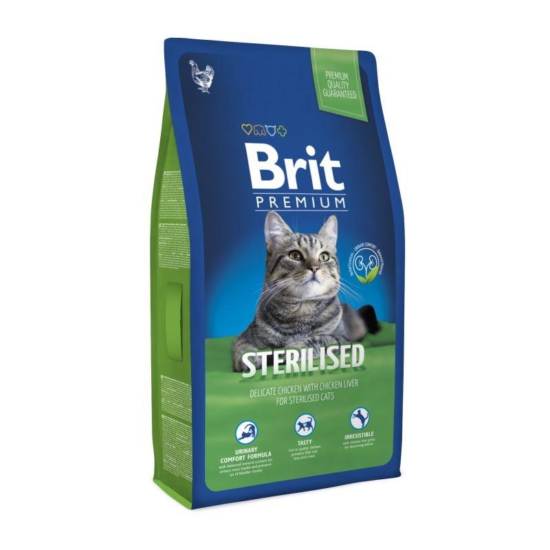 Brit Premium Cat Sterilised, 1.5 kg imagine