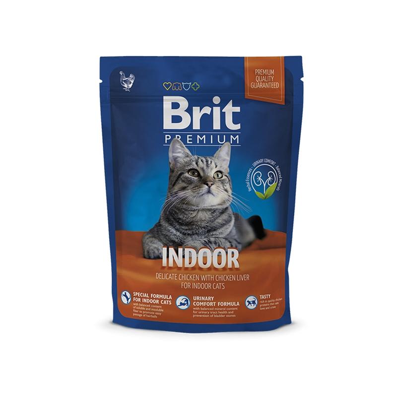 Brit Premium Cat Indoor, 300 g imagine