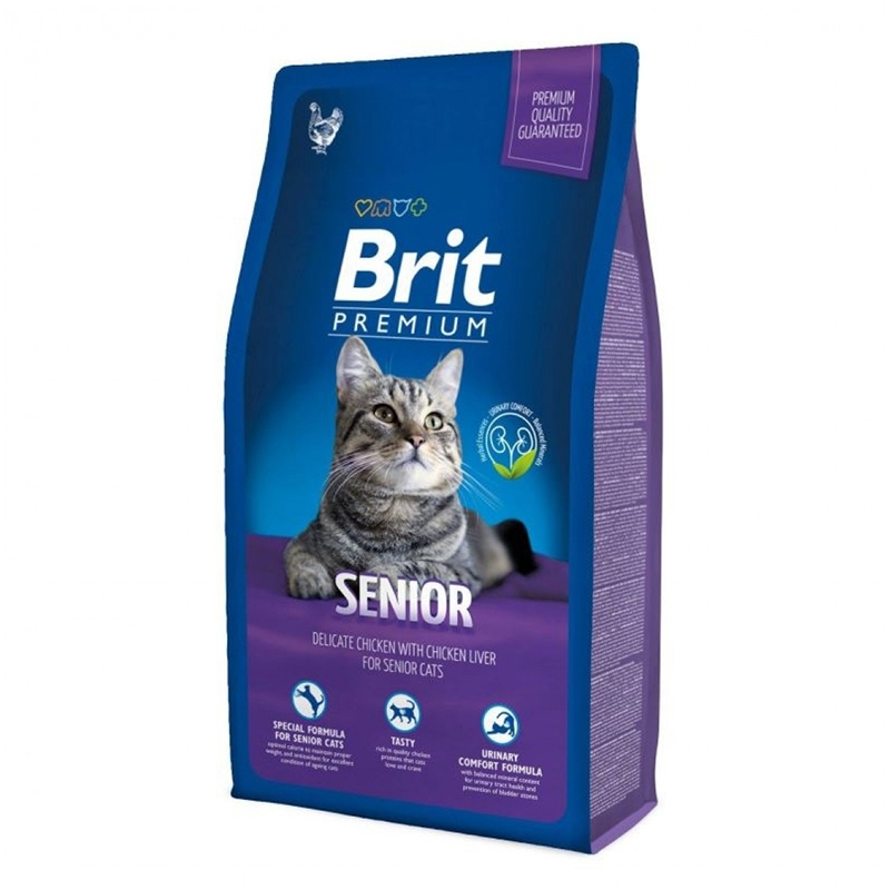 Brit Premium Cat Senior 1.5 kg imagine
