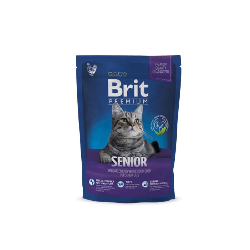 Brit Premium Cat Senior, 300 g imagine