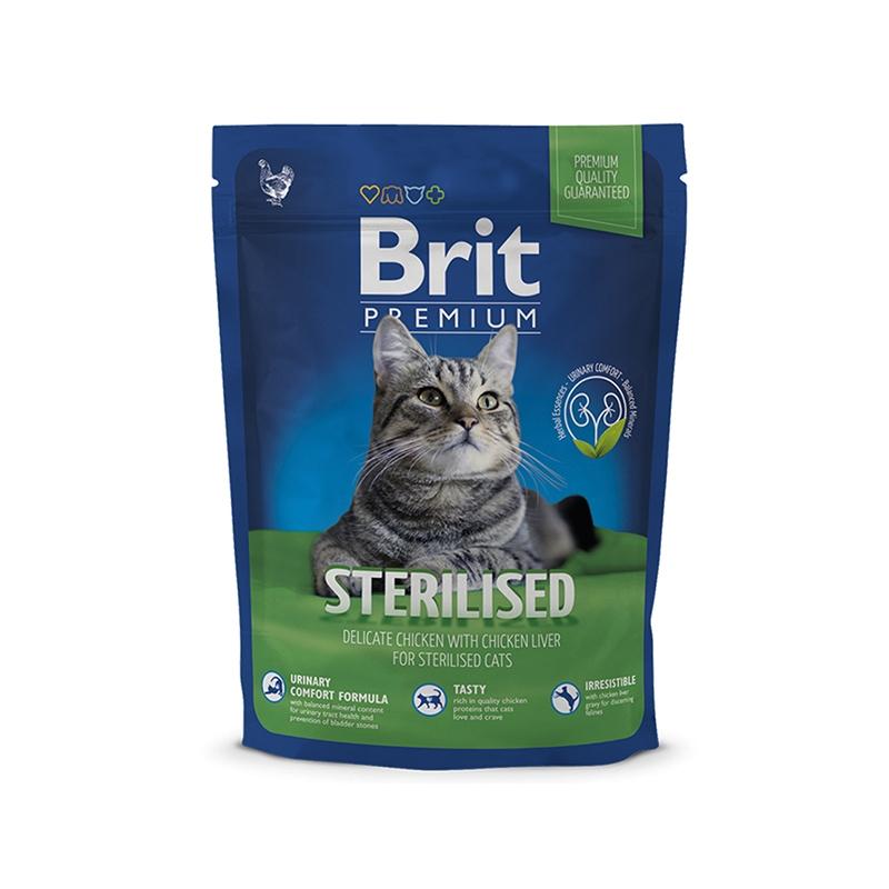 Brit Premium Cat Sterilised, 300 G imagine