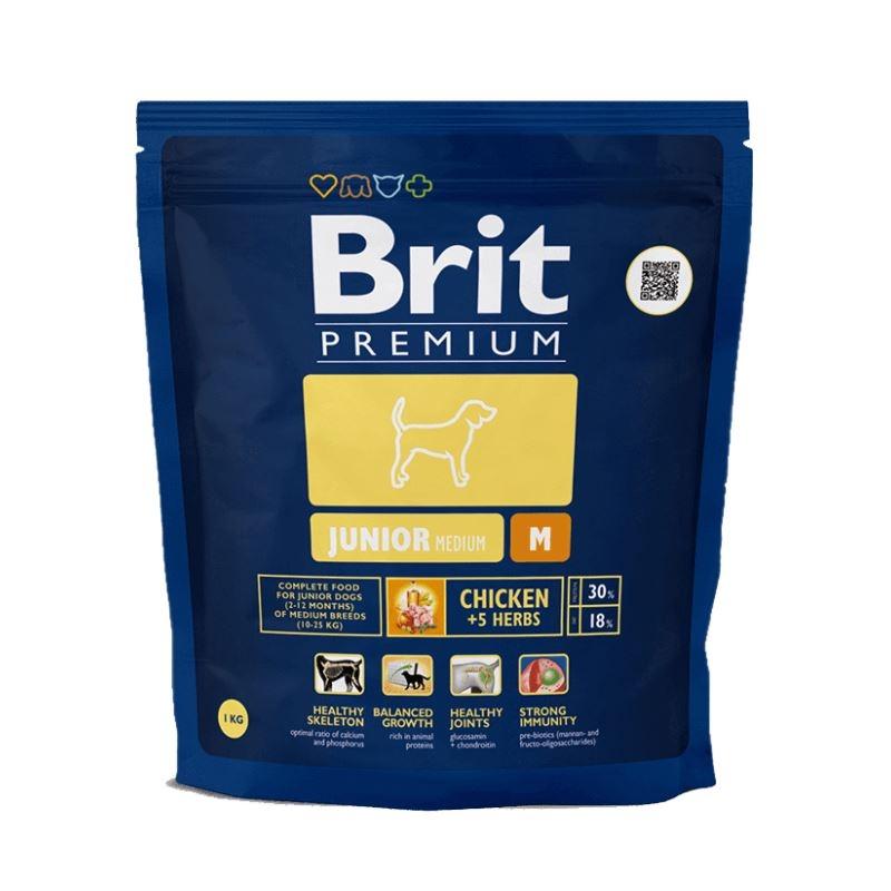 Brit Premium Junior Medium, 1 kg imagine