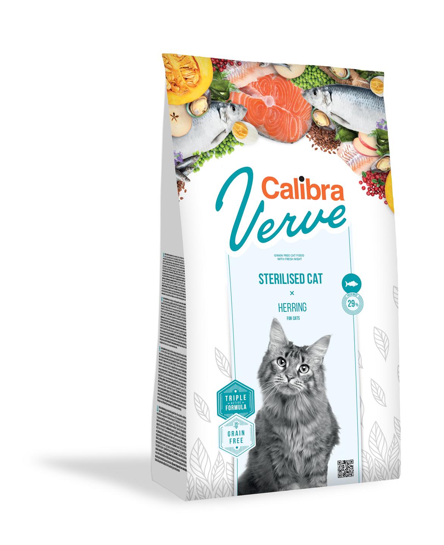 Calibra Cat Verve Grain Free Sterilised, Herring, 750 g imagine
