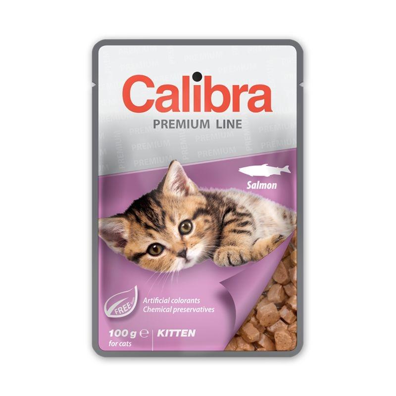 Calibra Cat Pouch Premium Kitten Salmon, 100 g imagine
