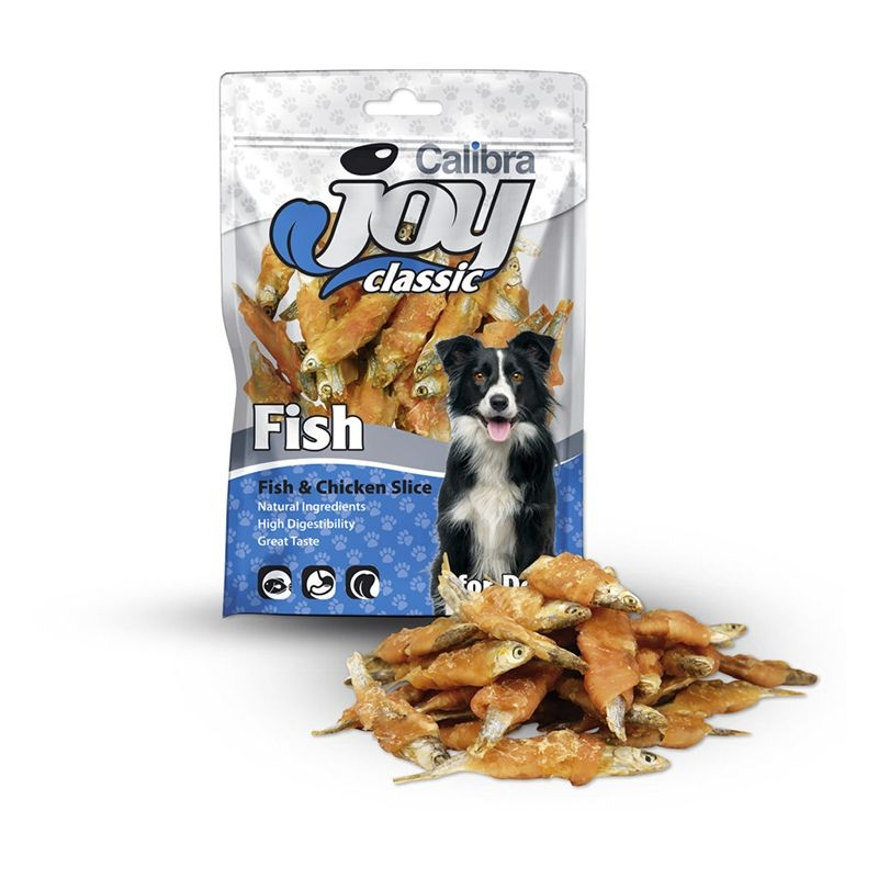 Calibra Joy Dog Classic Fish & Chicken Slice, 80 g imagine
