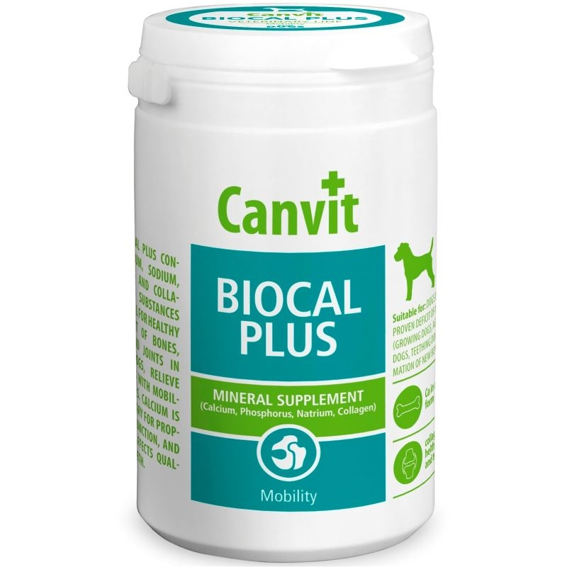 Canvit Biocal Plus for Dogs, 500 g imagine