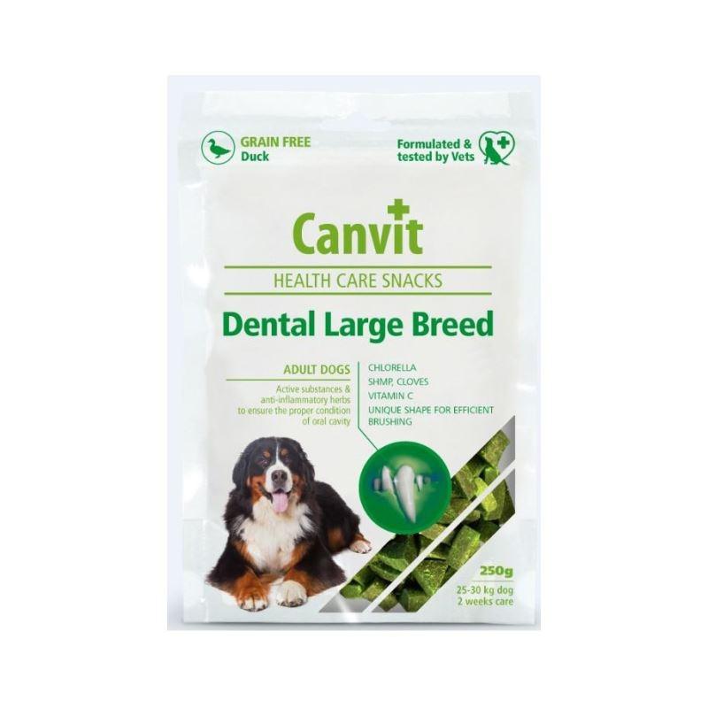 Canvit Health Care Dental Snack Large Breed, 250 g imagine