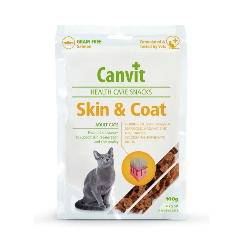 Canvit Health Care Skin and Coat Snack, 100 g imagine