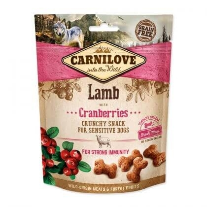 Carnilove Dog Crunchy Snack Lamb With Cranberries, 200 g imagine