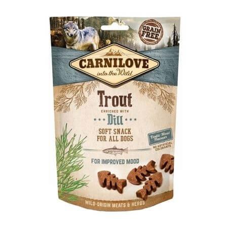Carnilove Dog Semi Moist Snack Trout with Dill, 200 g imagine