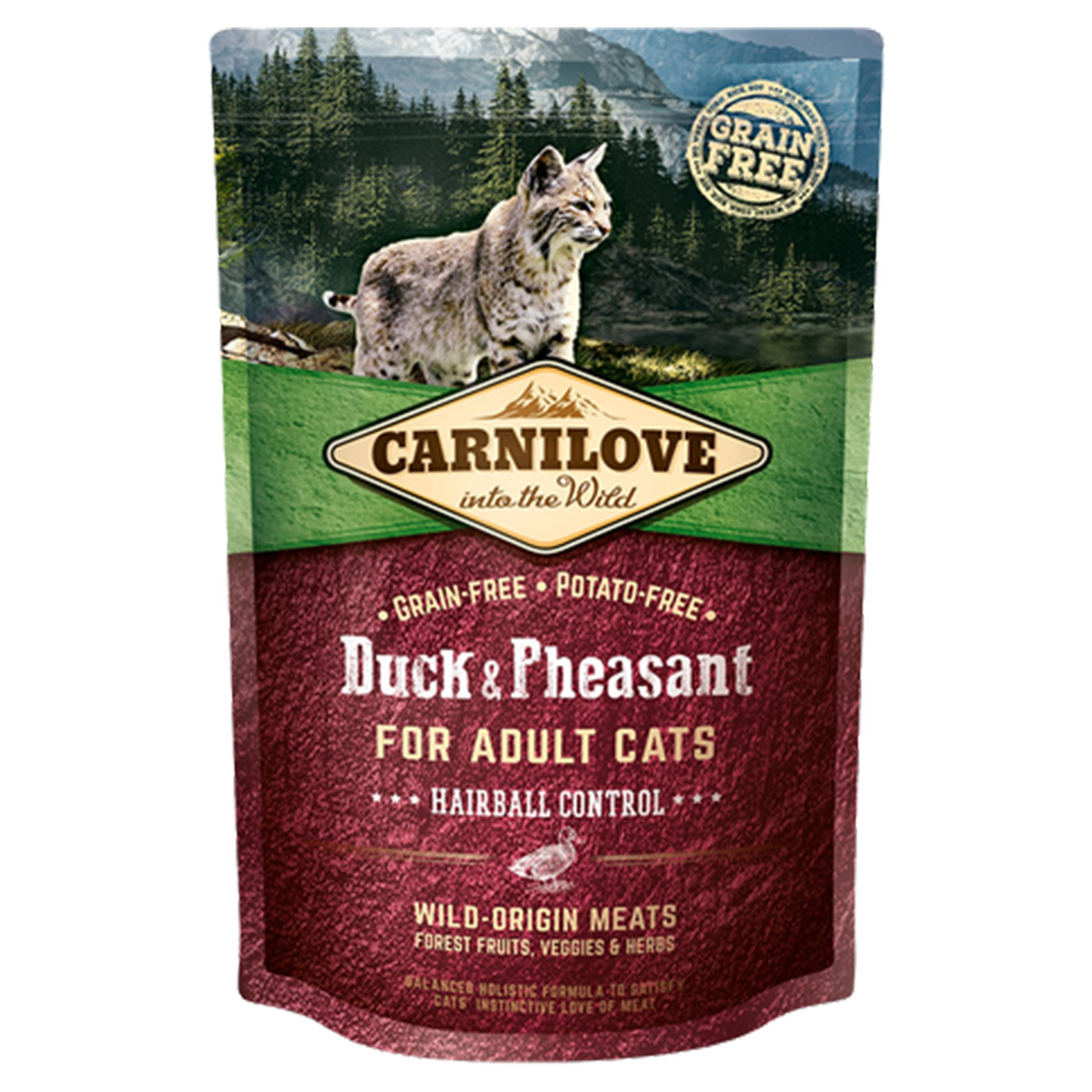 Carnilove Duck and Pheasant for Adult Cats, Hairball Control, 400 g imagine