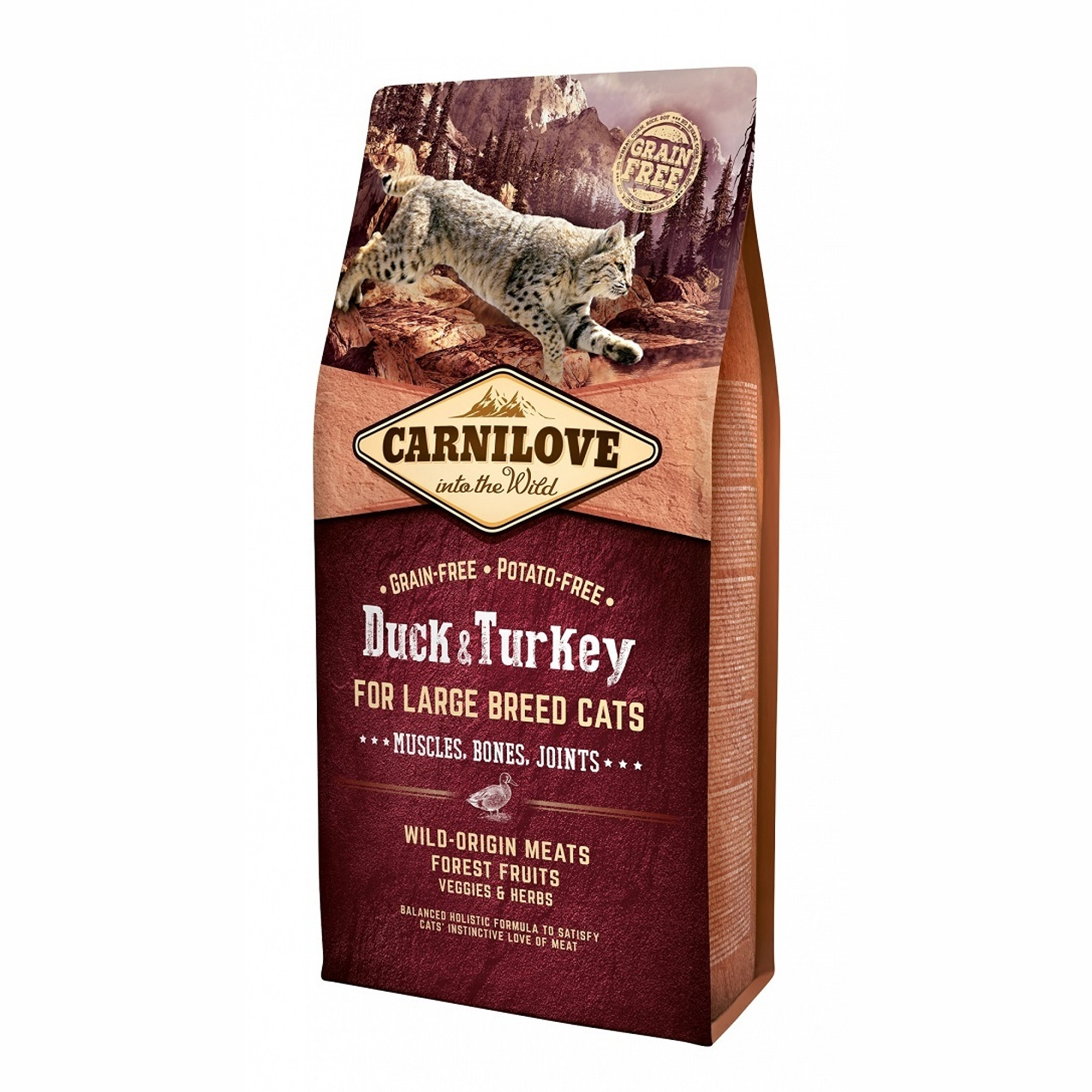 Carnilove Duck & Turkey Large Breed Cats, 6 kg imagine
