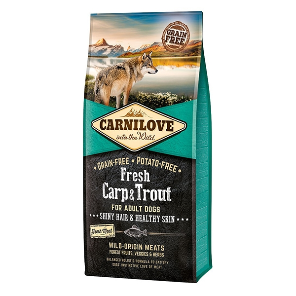 Carnilove Fresh Carp & Trout, Healthy Skin For Adult Dogs, 12 kg imagine