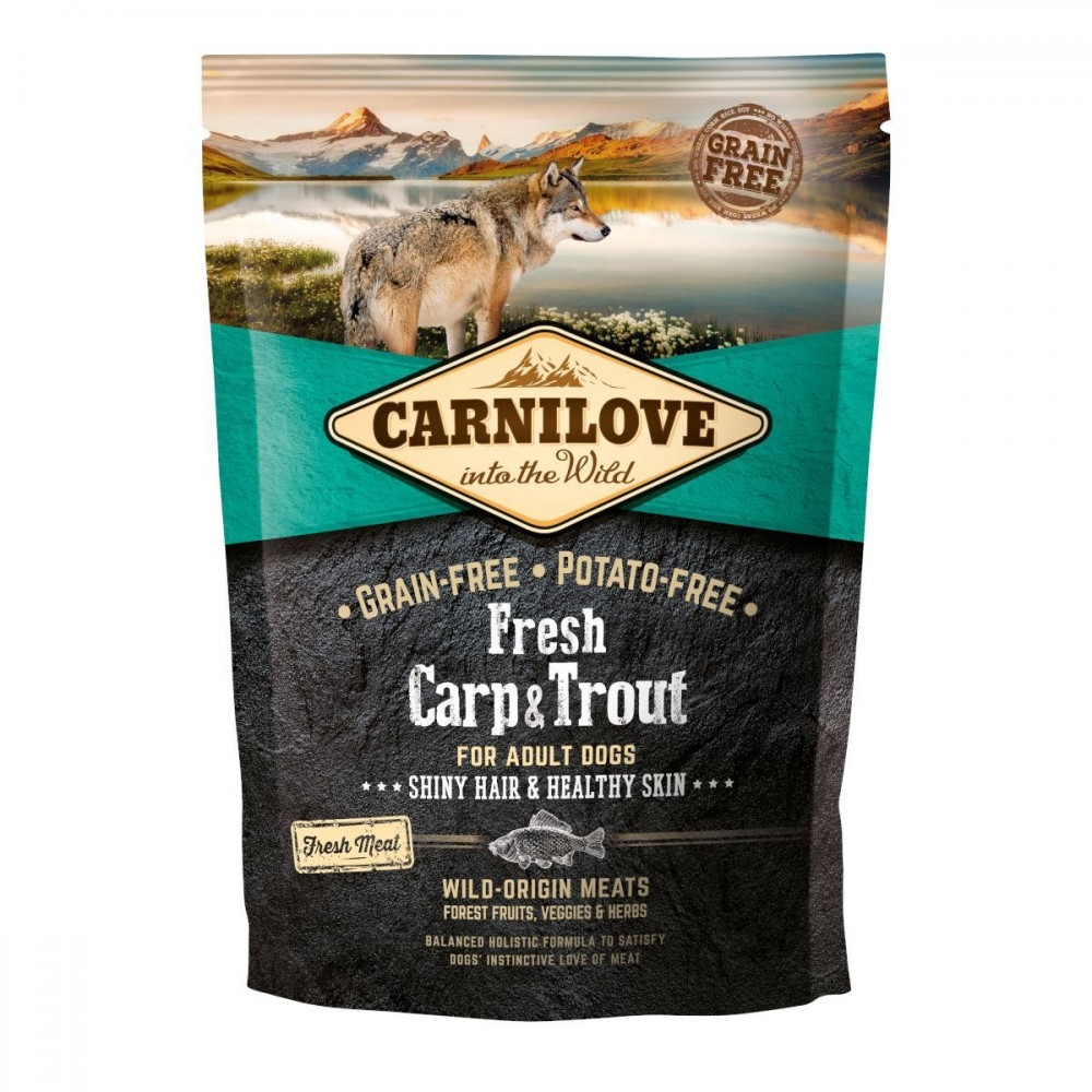 Carnilove Fresh Carp & Trout, Healthy Skin For Adult Dogs, 1.5 kg imagine