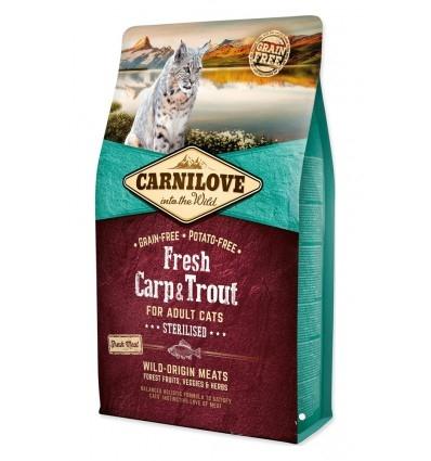 Carnilove Fresh Carp & Trout Sterilised For Adult Cats, 2 kg imagine