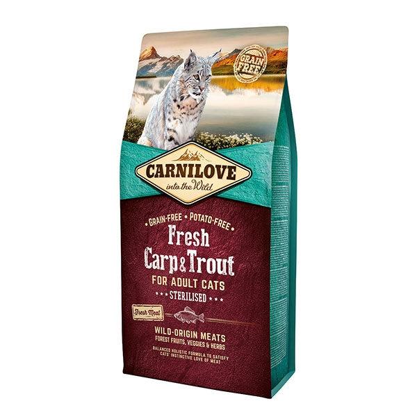Carnilove Fresh Carp & Trout Sterilised For Adult Cats, 6 kg imagine