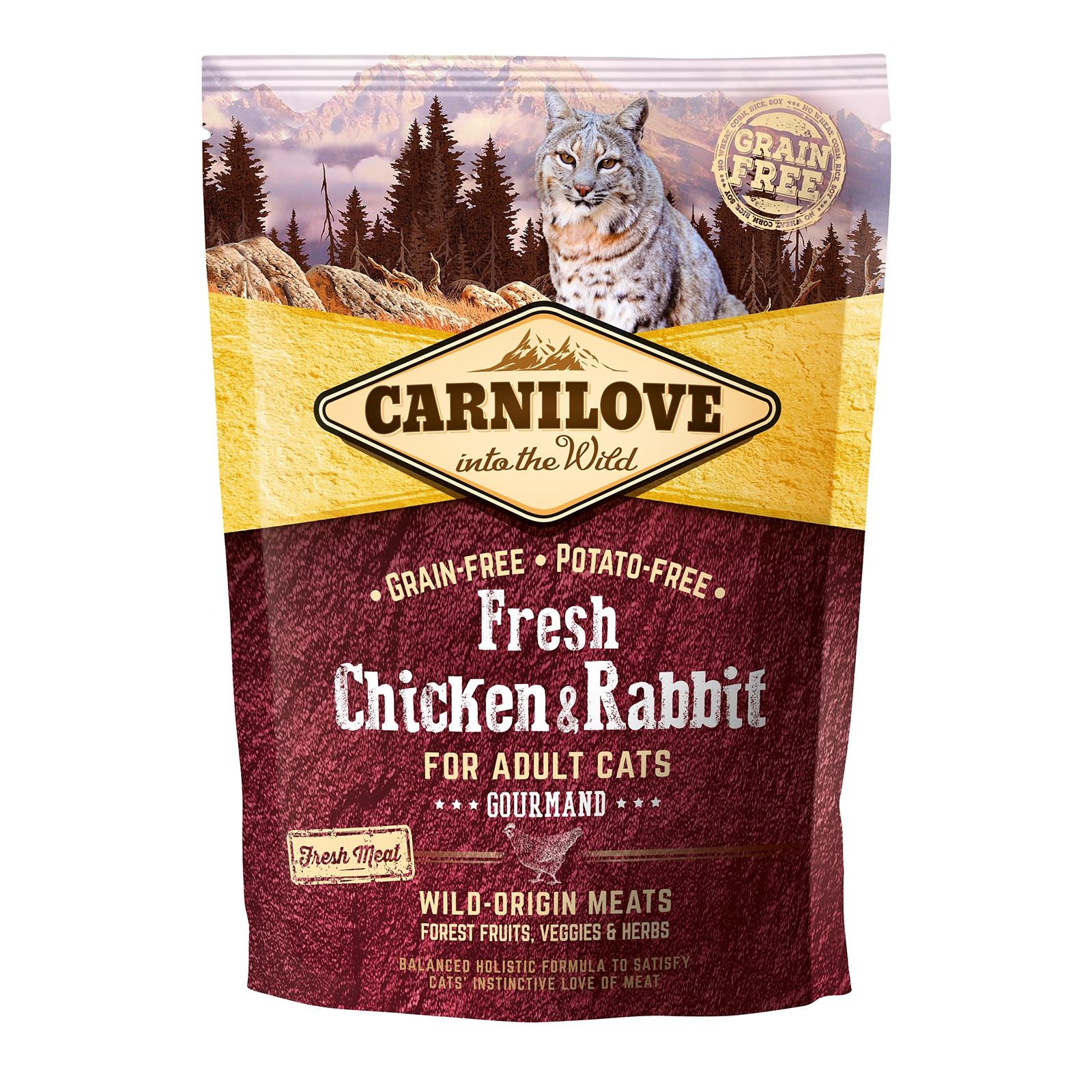 Carnilove Fresh Chicken and Rabbit Gourmand for Adult Cats, 400 g imagine