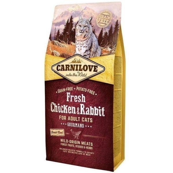 Carnilove Fresh Chicken & Rabbit For Adult Cats, 2 kg imagine