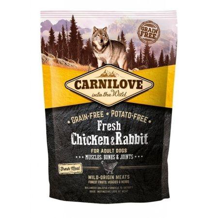 Carnilove Fresh Chicken & Rabbit, Bones & Joints For Adult Dogs, 1.5 kg imagine