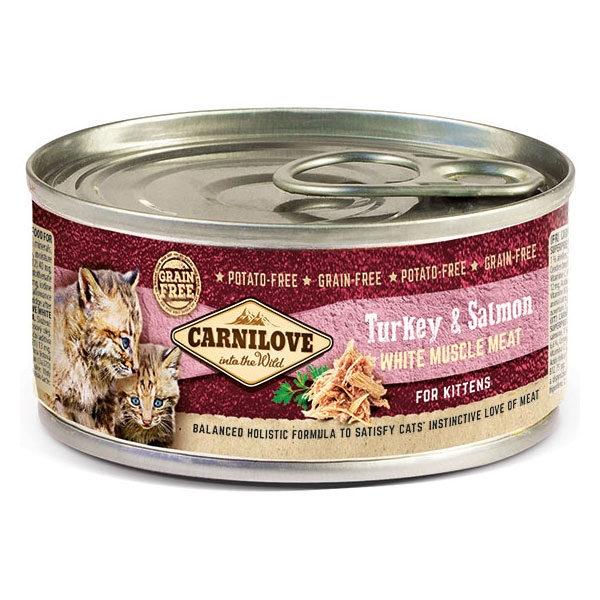 Carnilove Kitten Turkey & Salmon, 100 g imagine