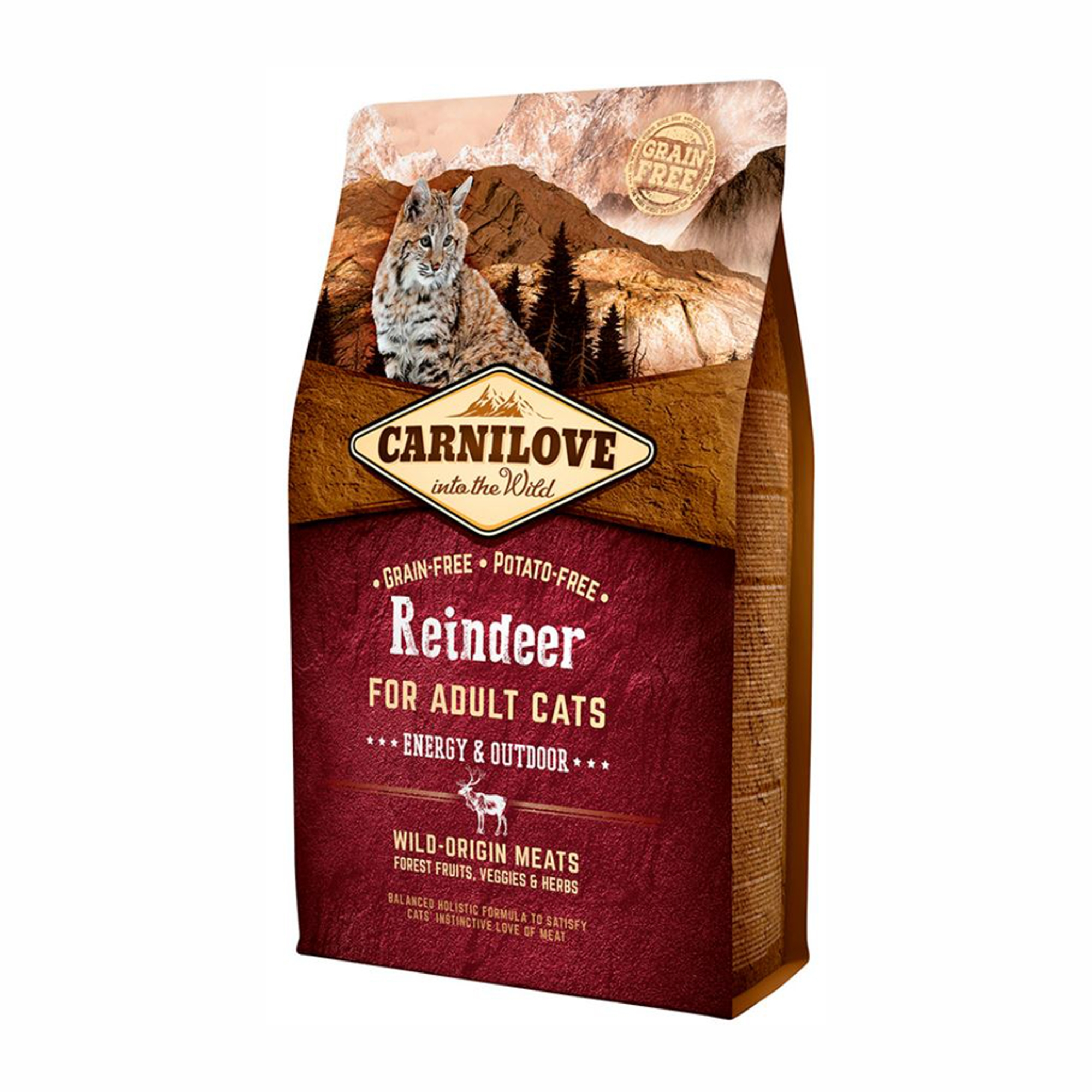 Carnilove Reindeer Cats Energy & Outdoor, 2 kg imagine