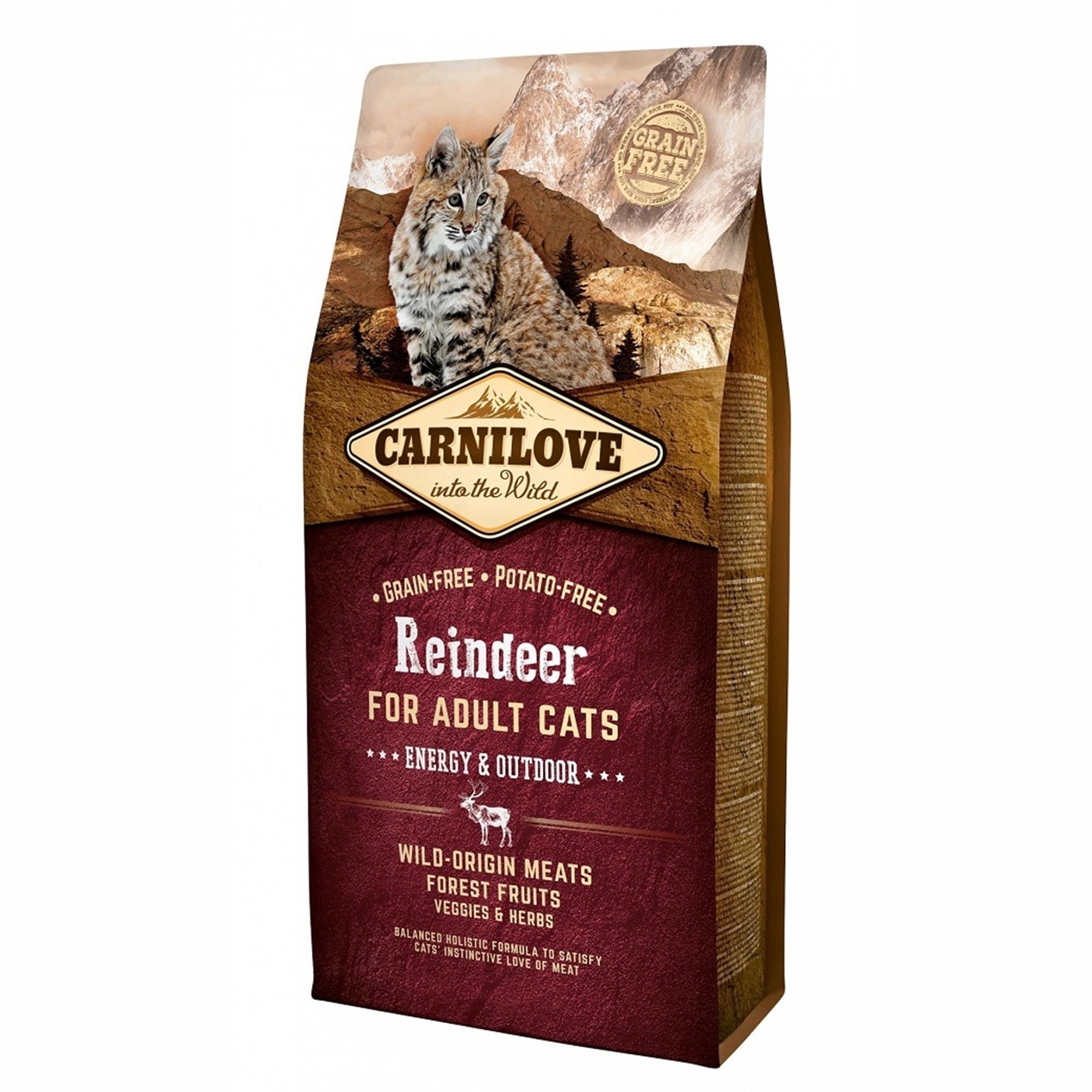 Carnilove Reindeer Cats Energy & Outdoor, 6 kg imagine