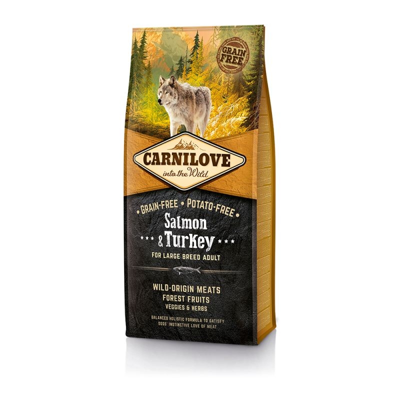 Carnilove Salmon and Turkey for Large Breed Adult, 12 kg imagine