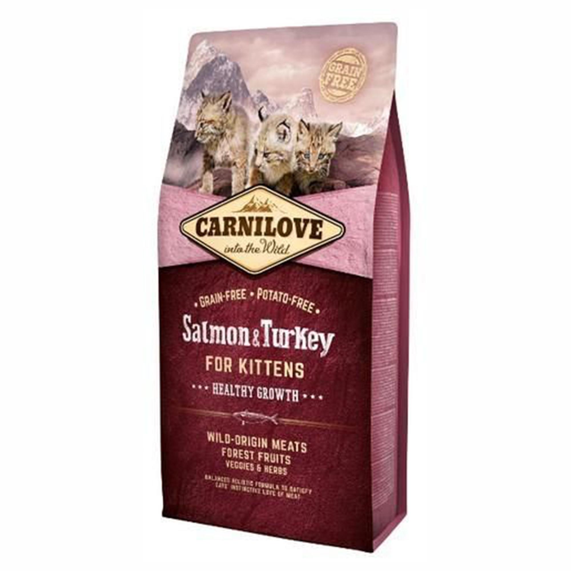 Carnilove Salmon & Turkey For Kittens, 6 kg imagine