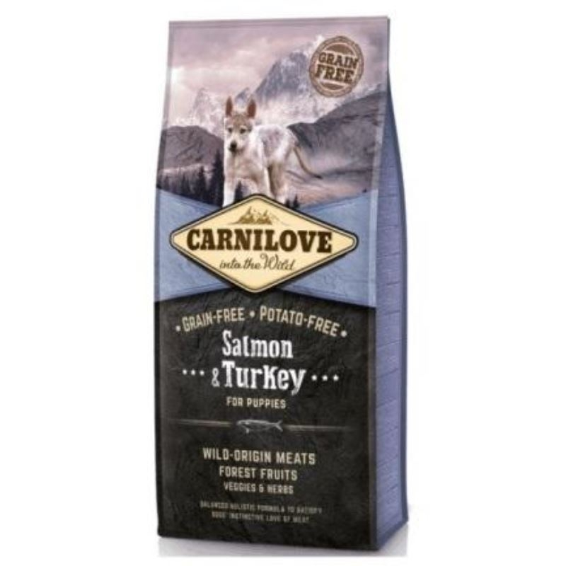 Carnilove Salmon and Turkey for Puppies, 12 kg imagine
