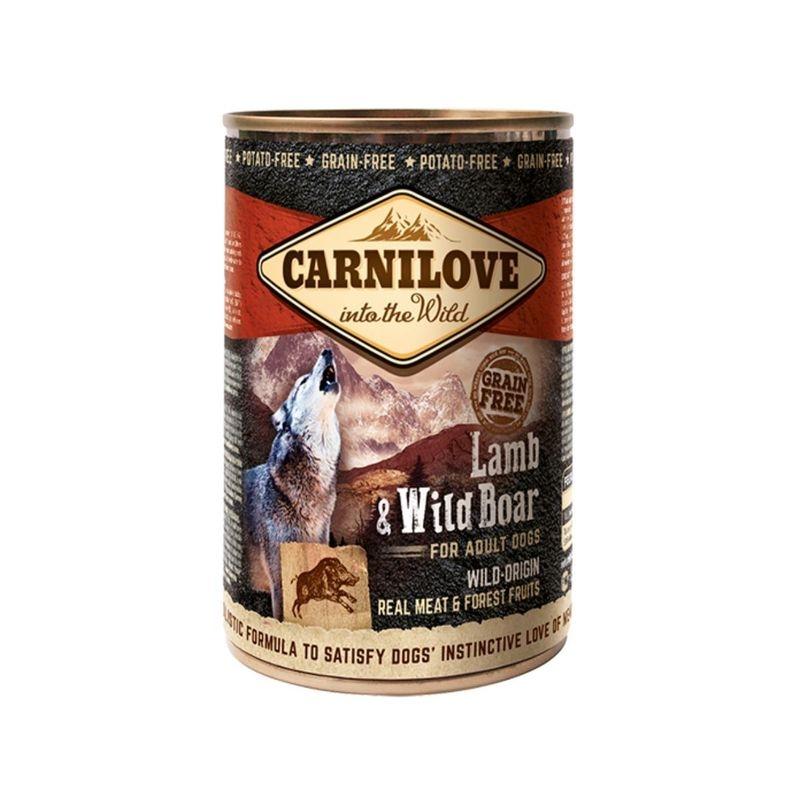 Carnilove Dog Wild Meat, Lamb & Wild Boar, 400 g imagine