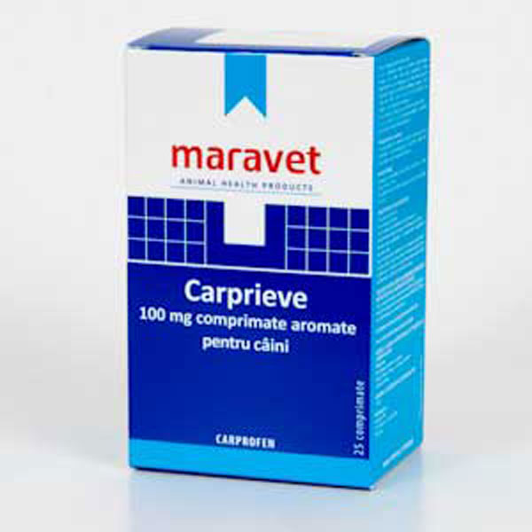 Carprieve Flavoured 100 mg 25 tab imagine