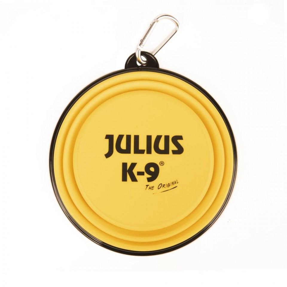 Castron pliabil silicon galben, Julius-K9, 350 ml imagine