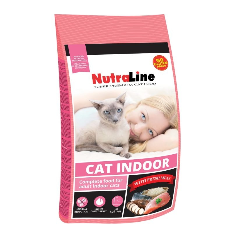Nutraline Cat Indoor, 1,5 Kg imagine